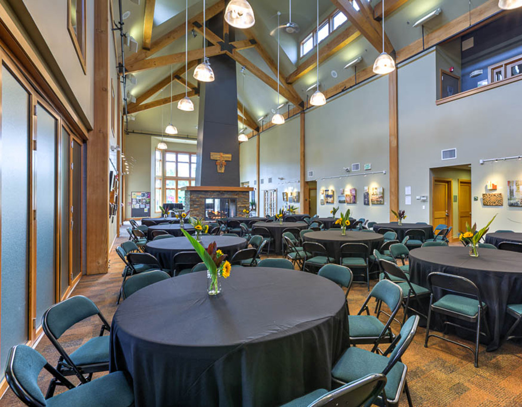 Blakely Hall Seated Party Setup
